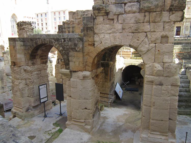 Volte anfiteatro romano di lecce